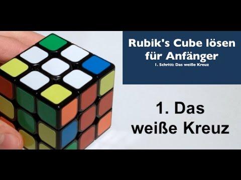 3x3x3 Rubik's Cube lösen für Anfänger - 1. Das weiße Kreuz ...