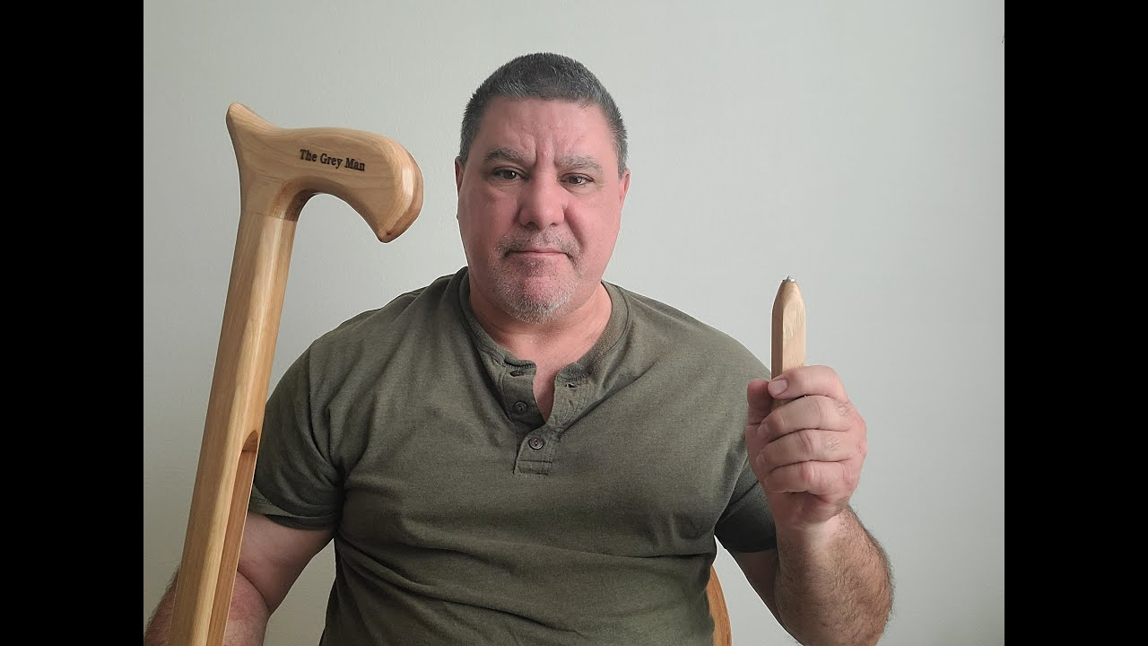 Cane Self-defense with answering questions about the New Grey Man Safety Cane.