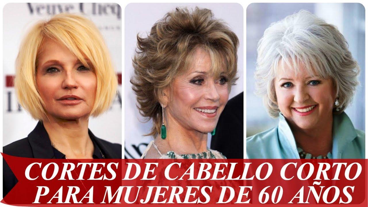 Cortes De Cabello Corto Para Mujeres De 60 Años Youtube