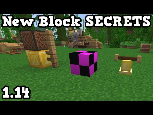 Minecraft 1 14 New Block Secrets Missing Bell
