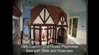 Beautiful Girls Princess Room- Princess Castle Bed