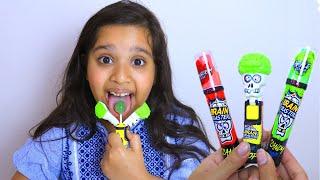 shfa colors sour lollipop  mukbang  Toddler