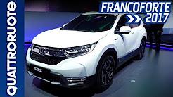 Nuova Honda CR-V Hybrid: svelato il prototipo al Salone di Francoforte 2017   Quattroruote