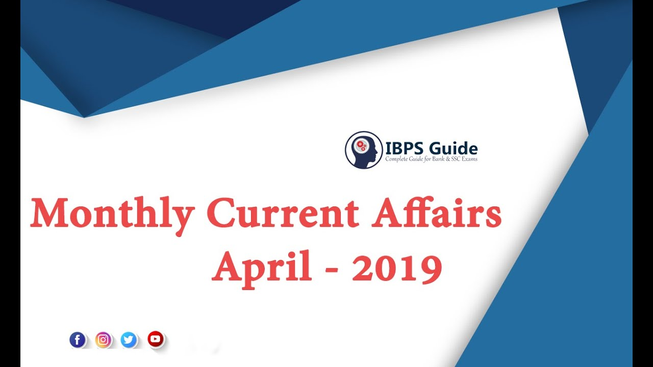 Monthly GK and Current Affairs Capsule March 2019 - Download