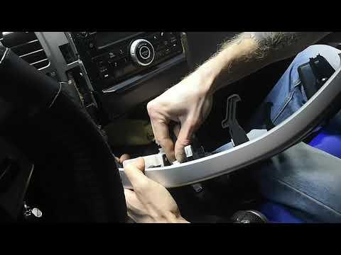 Как снять/демонтировать заводскую магнитолу Nissan X-Trail T31