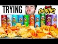 TRYING EVERY PRINGLES FLAVOR Pizza Ranch Salt And Vinegar MORE Chips Taste Test Challenge mp3