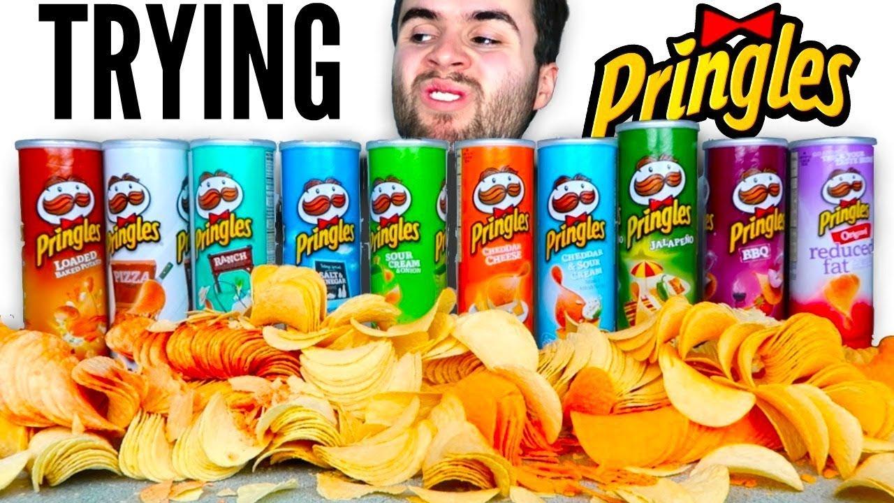 TRYING EVERY PRINGLES FLAVOR! - Pizza, Ranch, Salt and Vinegar, & MORE  Chips Taste Test Challenge!