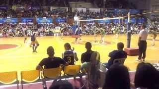 141028 unigames volleyball finals w dlsu nu set 1 1