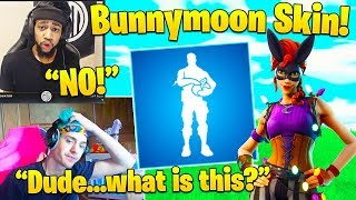 Streamers React to NEW Bunnymoon Skin and Treat Yourself Emote! - Fortnite Funny Moments