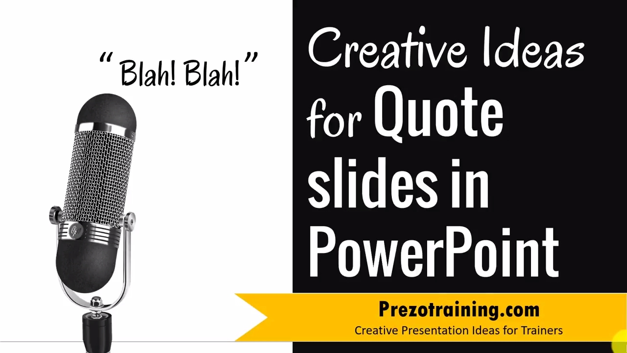 Creative Ideas For Quote slides in PowerPoint