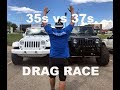 35s vs 37s Jeep Drag Race (Slowest race of all time)