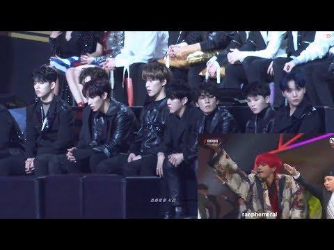 181214 SEVENTEEN 세븐틴  REACTION to IDOL - BTS 방탄소년단 at 2018 MAMA in HONG KONG [ HD FANCAM ]