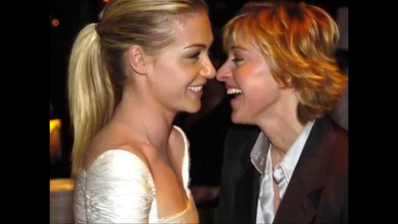 Ellen And Portia Ellen Degeneres Portia De Rossi Kissing Compilation Youtube