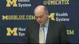 WATCH Michigan AD Jim Hackett announces Brady Hoke