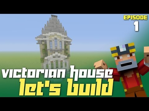 Minecraft Xbox One: Let's Build a Victorian House - Part 1! (First Wall)