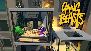 GANG BEASTS ONLINE - Elevator Exploded!!!