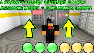 6 HIDDEN BUTTONS LOCATIONS IN NEW LOBBY + EXPLORING THE NEW LOBBY! (ROBLOX ASSASSIN) *QUEST 1 OF 3*