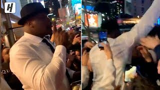 "Shaq Leading ""Kobe"" Chants Outside of Staples Center!"