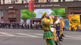 "The Italian Flag Throwers at the Music Festival ""Spasskaya Tower"" (Military Tattoo) 2014 Part 3"