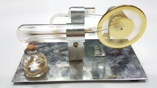 Perakitan mesin Stirling termal mesin pembakaran eksternal