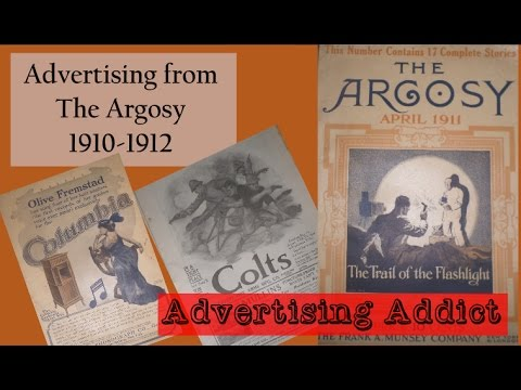 Advertising from The Argosy Magazine 1910-1912 ~ Colgan's Taffy Tulu ~ Advertising Addict