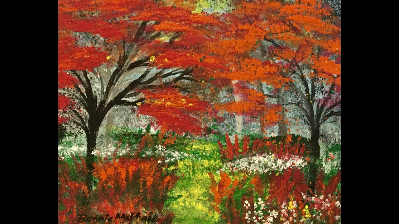 Diy acrylic painting lesson autumn leaves youtube for How to acrylic