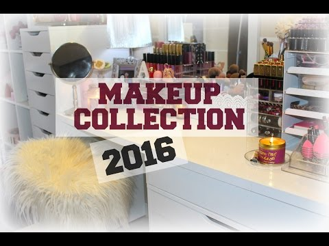 MAKEUP COLLECTION + STORAGE 2016 ♡ - Smashing Darling x