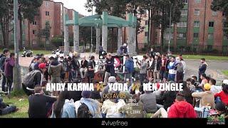 KEN ZINGLE vs ANDY KARMA vs YODA -- codigo de barras liga de freestyle -edicion especial