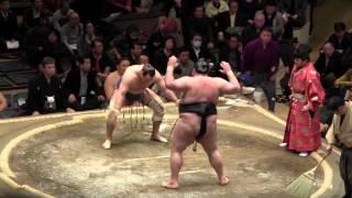2015年1月12日(月祝)に両国国技館で行われた大相撲一月場所2日目で、臥...