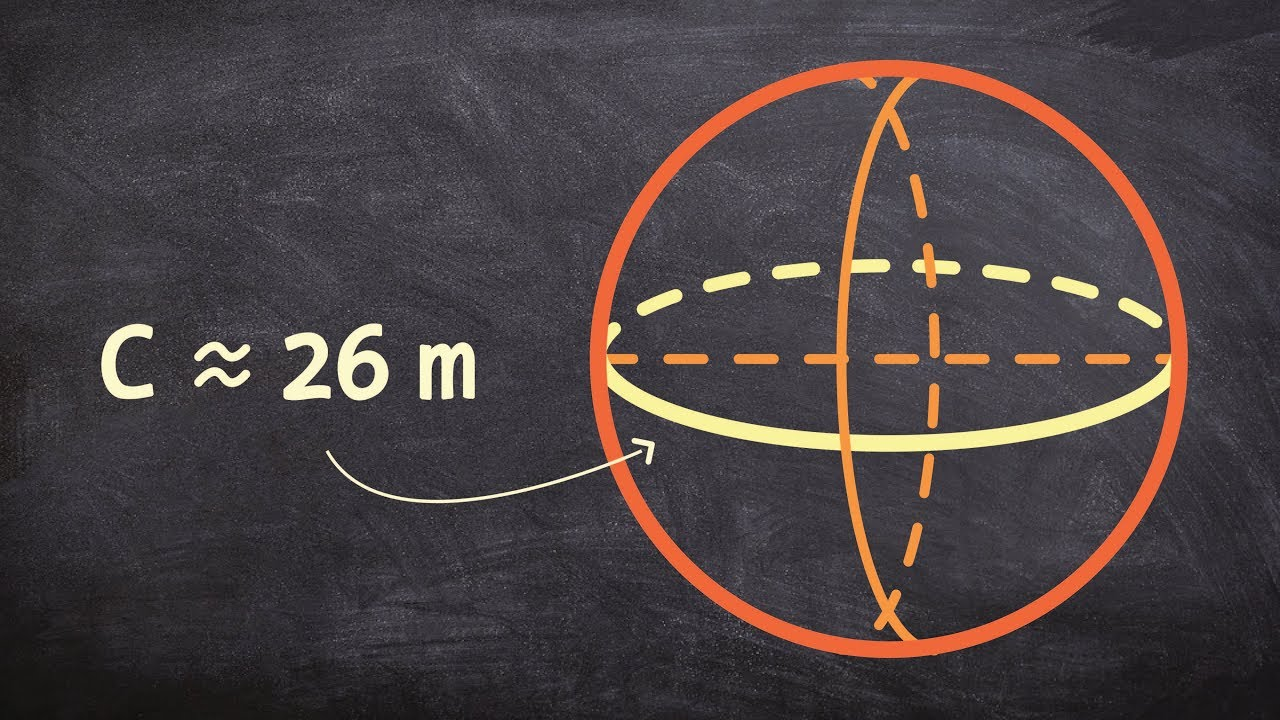 Geometry  Find The Volume Of A Sphere Given The Circumference