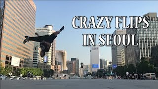 Clarence Kennedy does CRAZY Flips in Seoul - Part 3