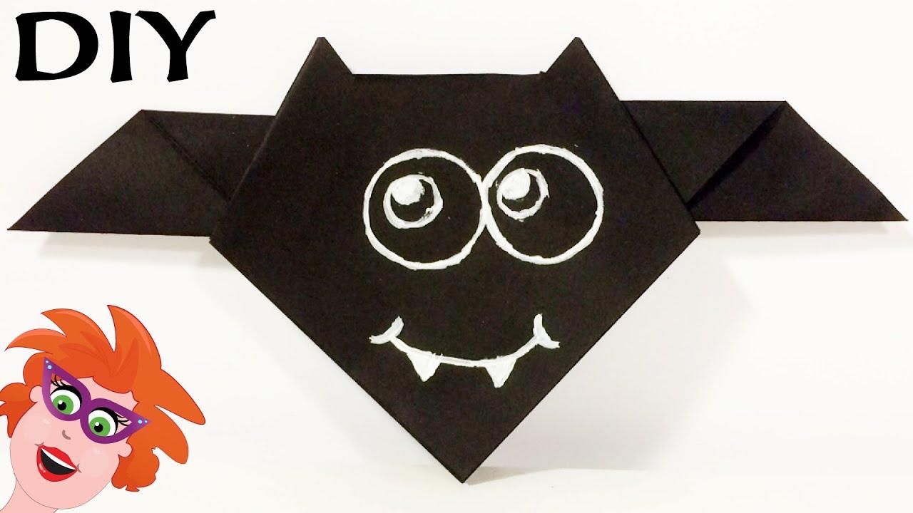 Vleermuis vouwen van papier origami makkelijk om te knutselen met kinderen youtube - Hoe een kamer van een kind te versieren ...