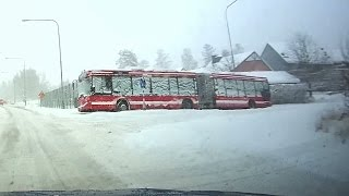 Repeat youtube video Snow day 2016-11-09 chaos in Stockholm