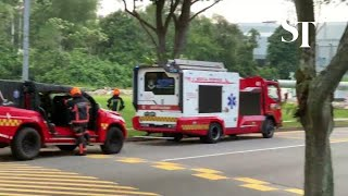 Several rescue vehicles seen near Singapore American School | The Straits Times