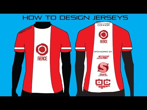 Adobe Illustrator Gaming Jersey Designing Tutorial by @DefyArts