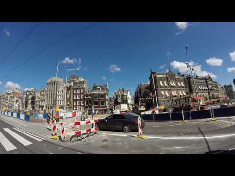 Biking in the Center of Amsterdam. Every Man for Themselves! - Chaos!