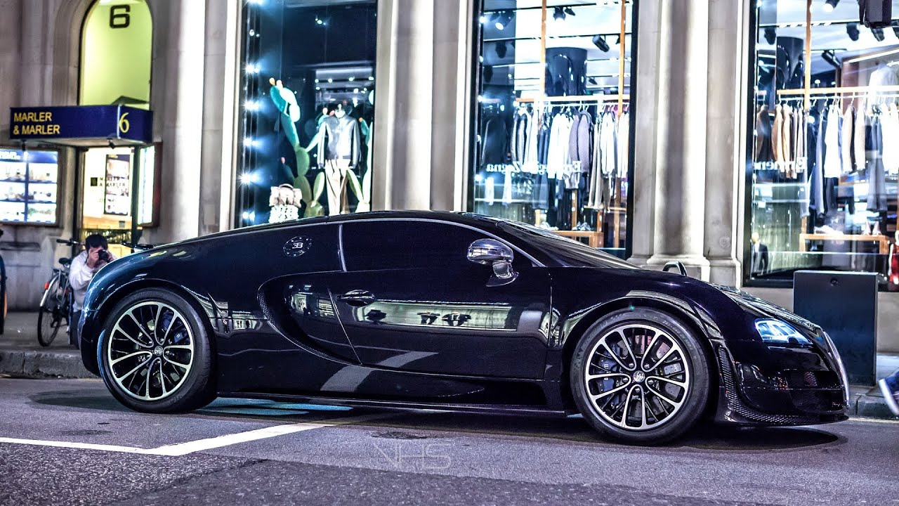 Arab Bugatti Veyron Supersport Driving in London - YouTube