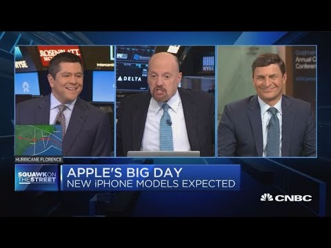 Not the right thing to buy Apple stock around product events, says Jim Cramer