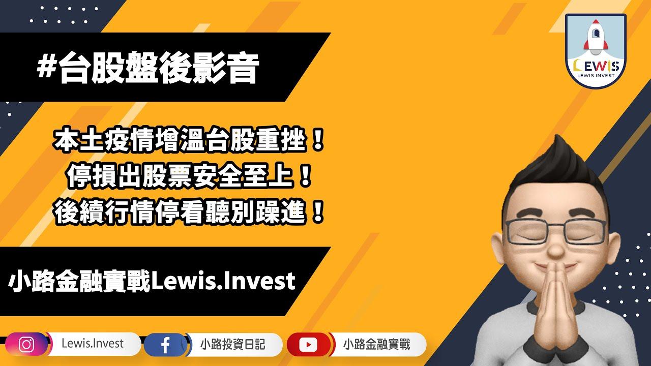 #小路投資日記 本土疫情增溫台股重挫!停損出股票控制風險