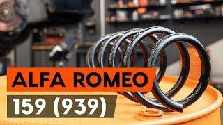 Kako zamenjati sprednja vzmeti naALFA ROMEO 159 1 (939) [VODIČ AUTODOC]