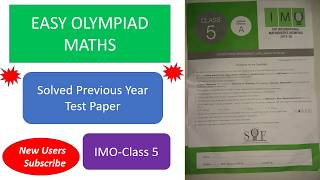 IMO class5  solved test paper 2017