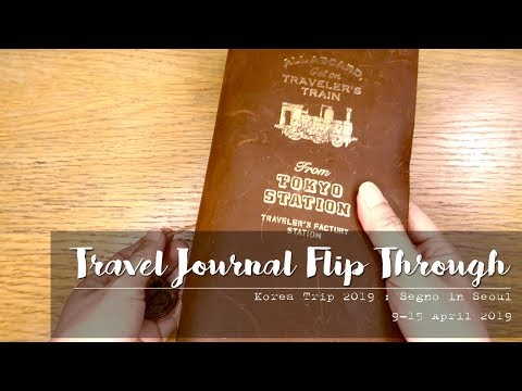 Travel Journal Flip Through | Korea 2019 - Segno in Seoul