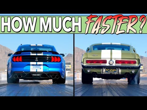 We Drag Race A New and Classic Ford Shelby Mustang GT500 To See What 50 Years Of Progress Makes!