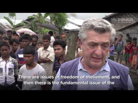 Filippo Grandi Visits Rakhine state Myanmar