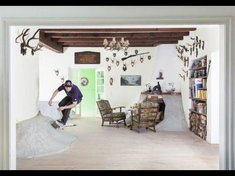 Skating in a house - Schuster Skate Villa