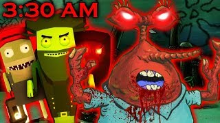МИСТЕР КРАБС НА КЛАДБИЩЕ В 3 ЧАСА НОЧИ    3:30AM At The Floater's Cemetery (Spongebob Horror Game)
