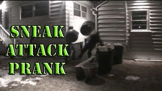 Exercise Ball Sneak Attack Spear Prank