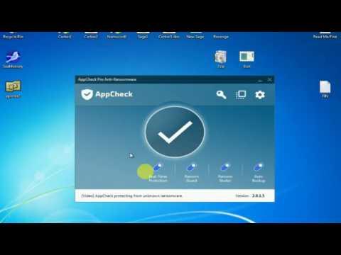 AppCheck, un potente programa contra ataques de ransomware en Windows