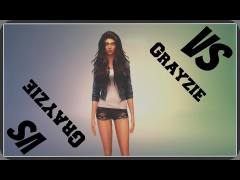Sims4 Battle Pinkie VS Grayzie