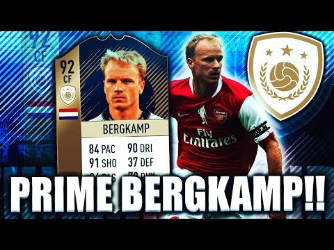 PRIME DENNIS BERGKAMP 92! IS HE WORTH IT? FIFA 18 ULTIMATE T